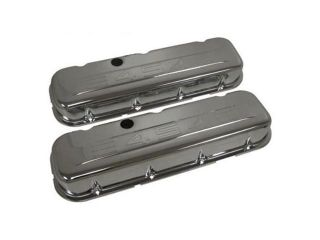 Chrome Valve Covers Chevy Big Block 454 w/ Logo