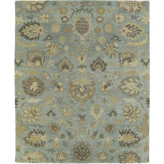 Christopher Kashan Hand tufted Light Blue Rug (8 X 10)